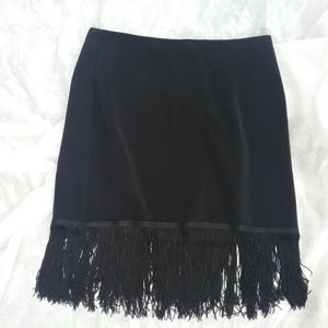 White House Black Market Flapper Fringe Skirt NWT
